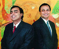 Statements by Ambani brothers nudge shares up